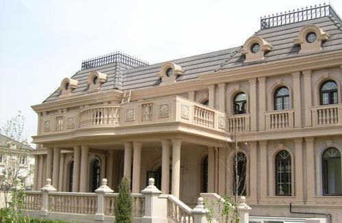 欧式红砖现代建筑